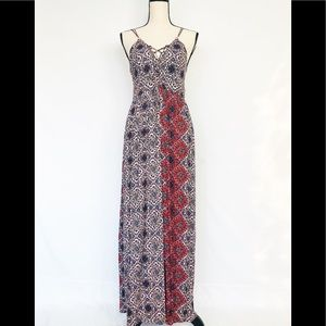 ALYA Criss Cross Front Maxi Dress M